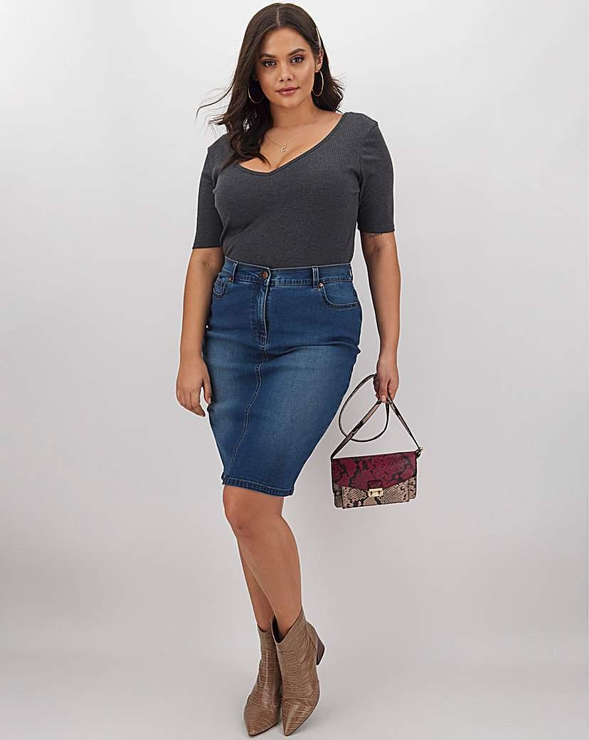 Capsule 24/7 Blue Denim Skirt