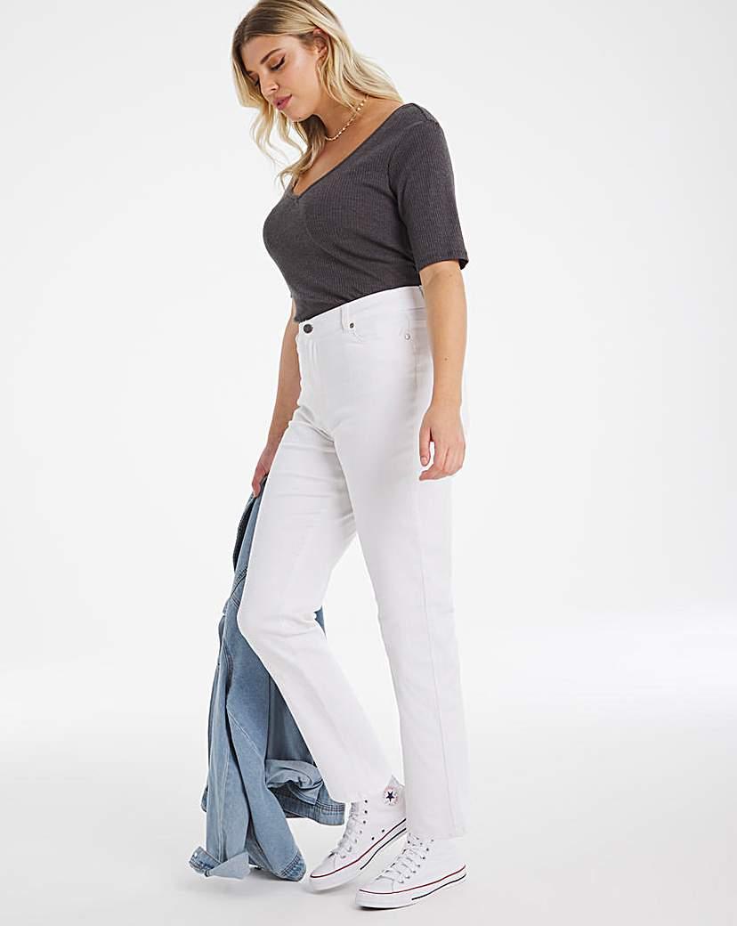 Capsule 24/7 Organic White Straight Leg Jeans