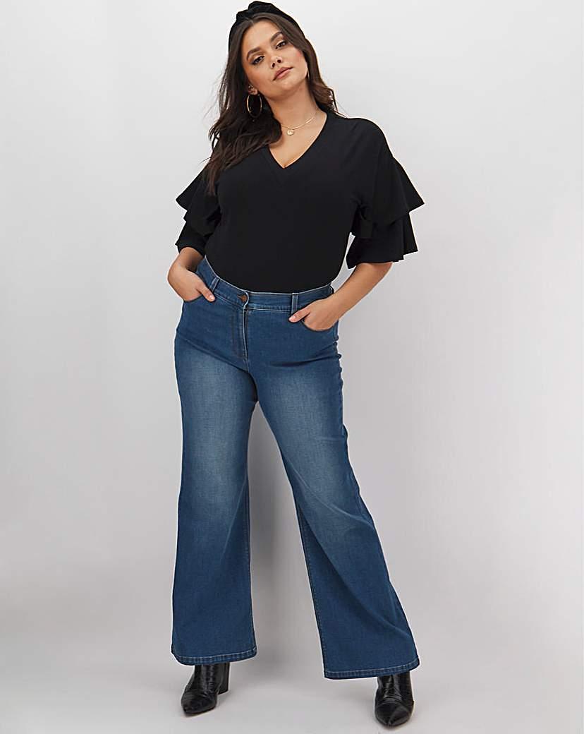 Capsule 24/7 Blue Wide Leg Jeans