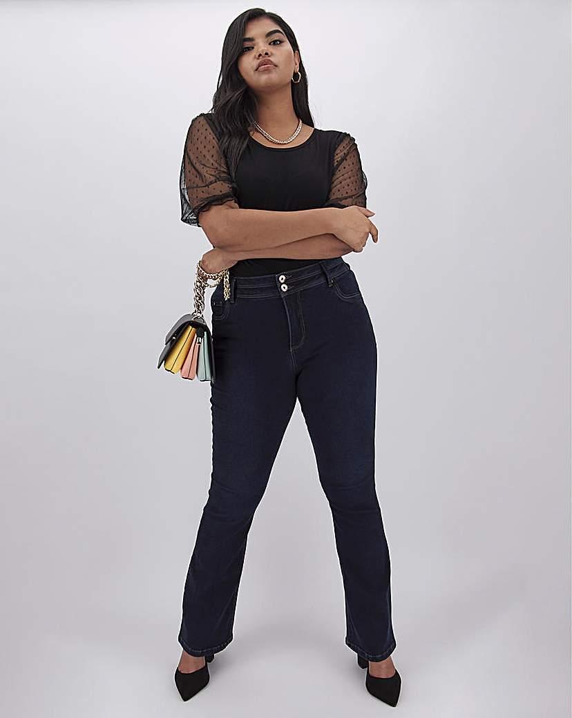 Capsule Indigo Shape & Sculpt Bootcut Jeans Long
