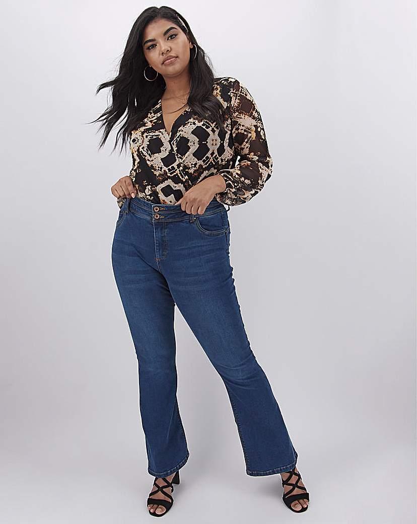 Capsule Mid Blue Shape & Sculpt Bootcut Jeans