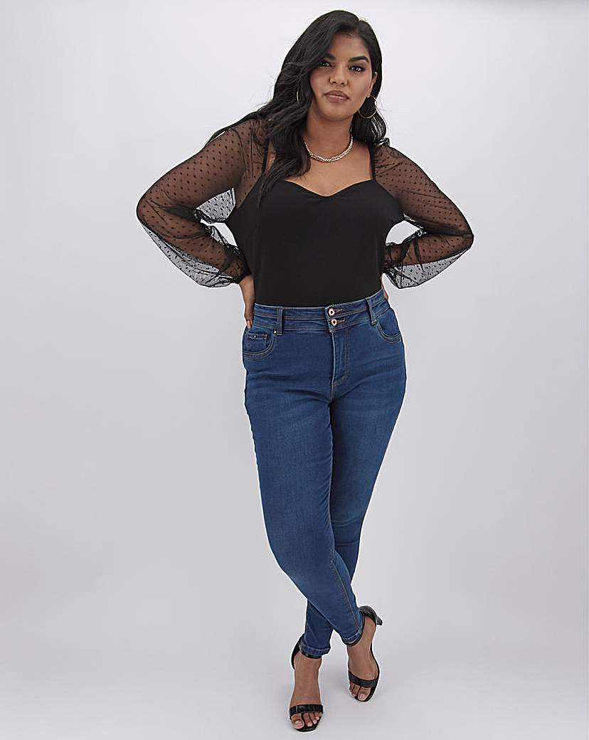 Capsule Mid Blue Shape & Sculpt Skinny Jeans