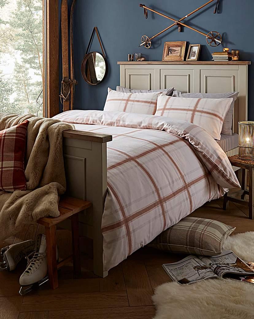 Brushed Cotton Natural Duvet Cover Set