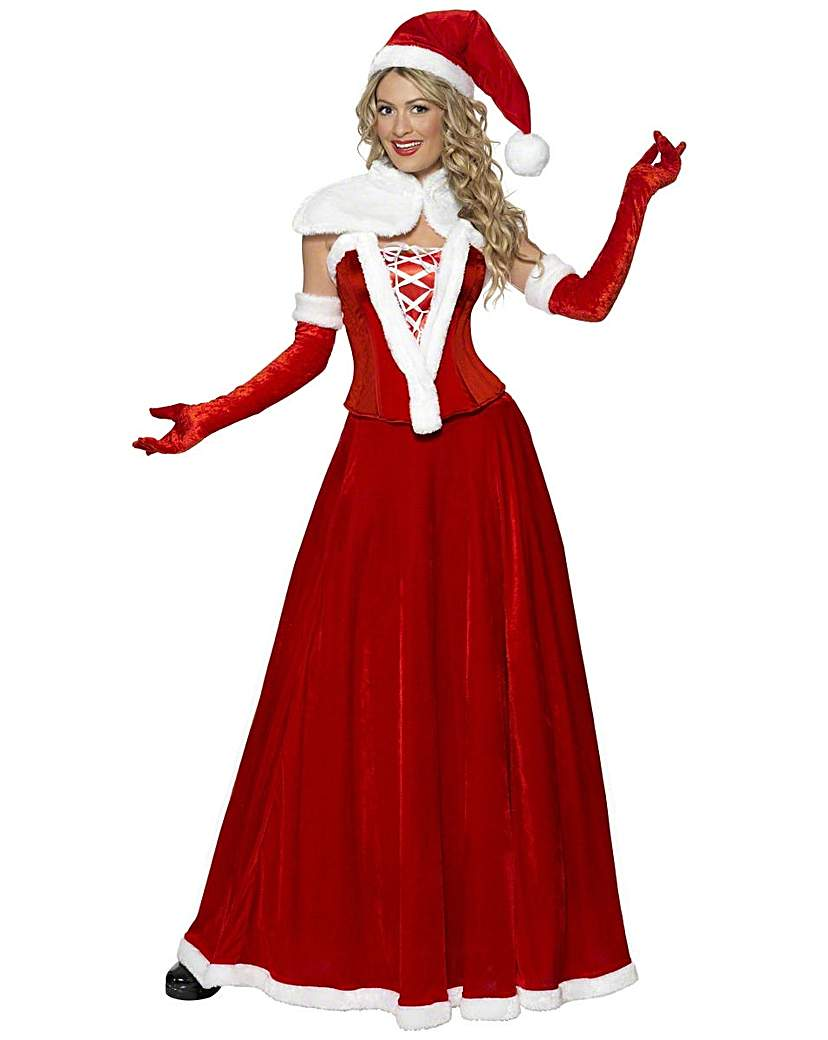 Victorian Costumes: Dresses, Saloon Girls, Southern Belle, Witch Ladies Christmas Luxury Miss Santa £38.00 AT vintagedancer.com