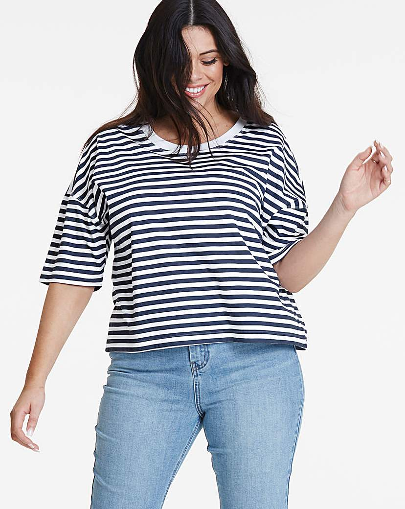 Simply Be Simply Be Crop Boxy T Shirt