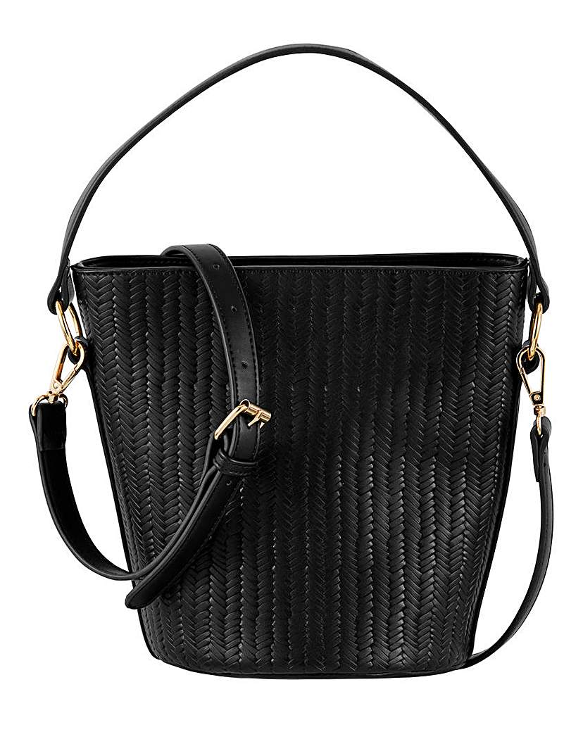 Simply Be Embossed Weave Bucket Bag