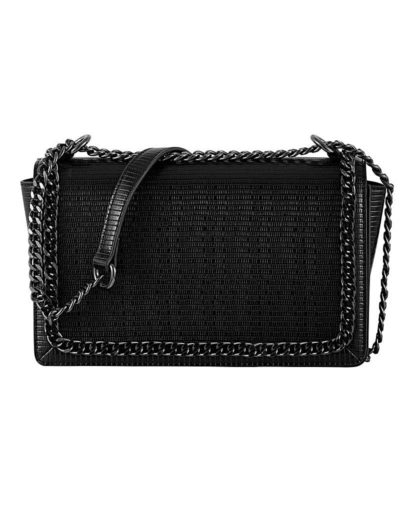 Simply Be Chain Edge Croc Flapover Bag