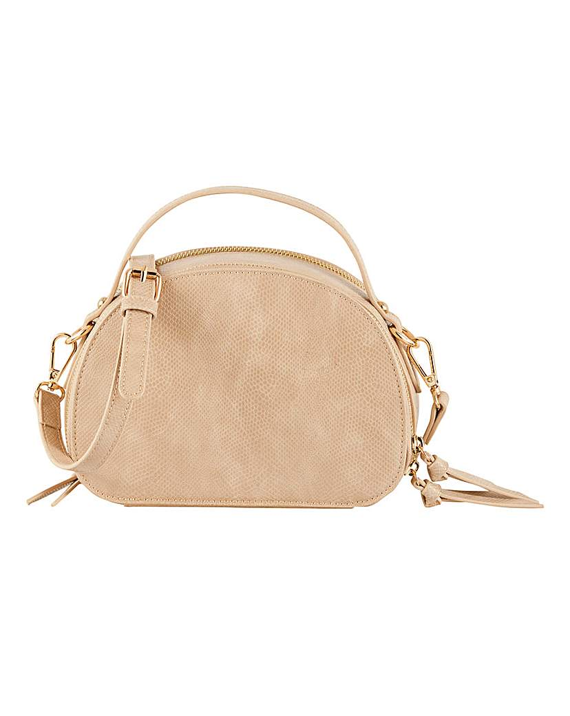 Simply Be Double Zip Oval Crossbody