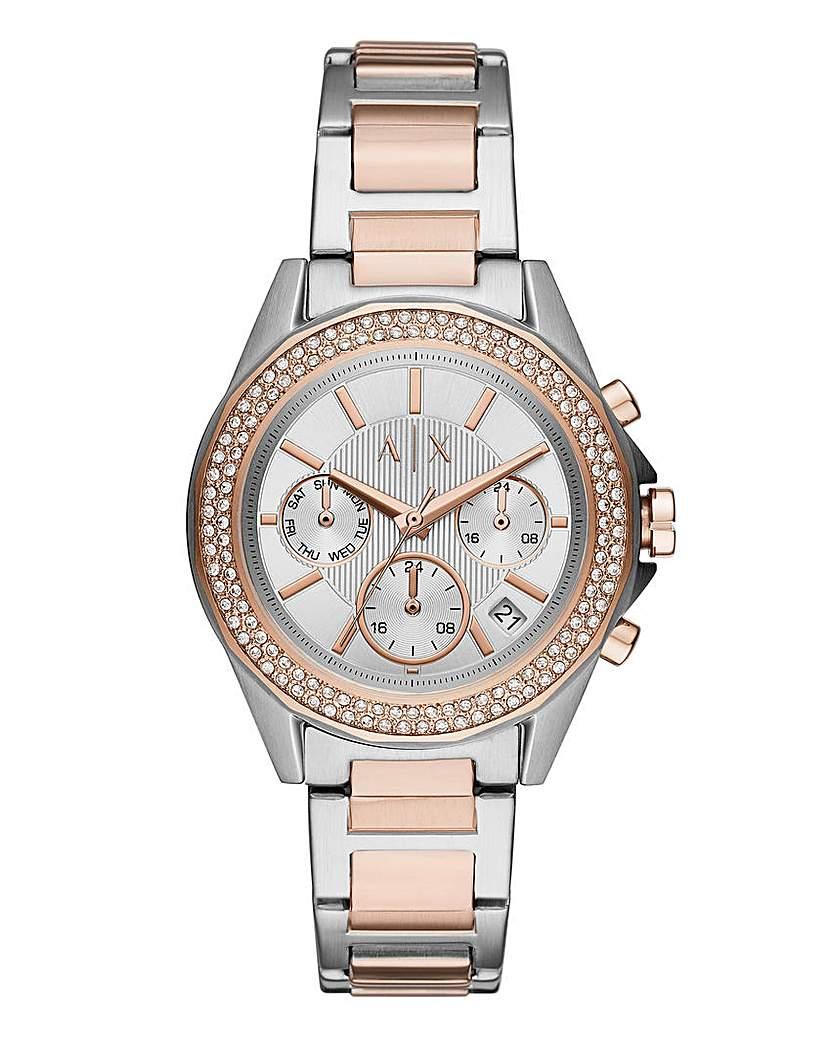 AX Lady Drexler 2 Tone Bracelet Watch
