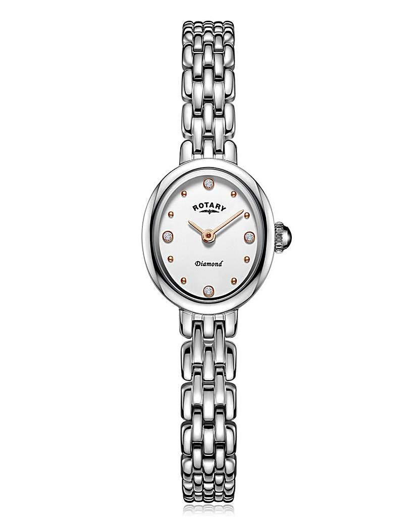 Rotary Rotary Ladies Diamond Set Silver Watch