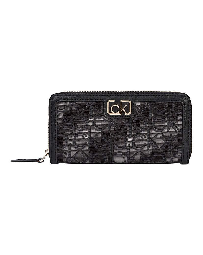 Calvin Klein Calvin Klein Black Mix Ziparound Wallet
