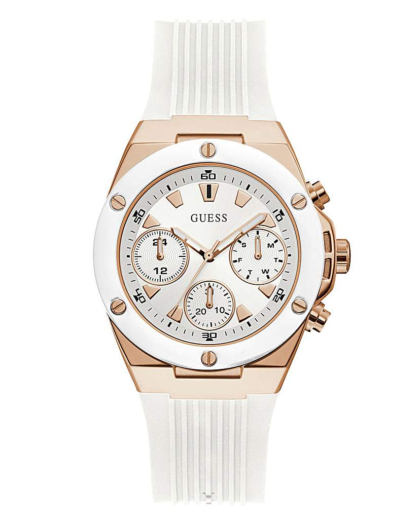Guess Guess White & Rose Gold Athena Watch