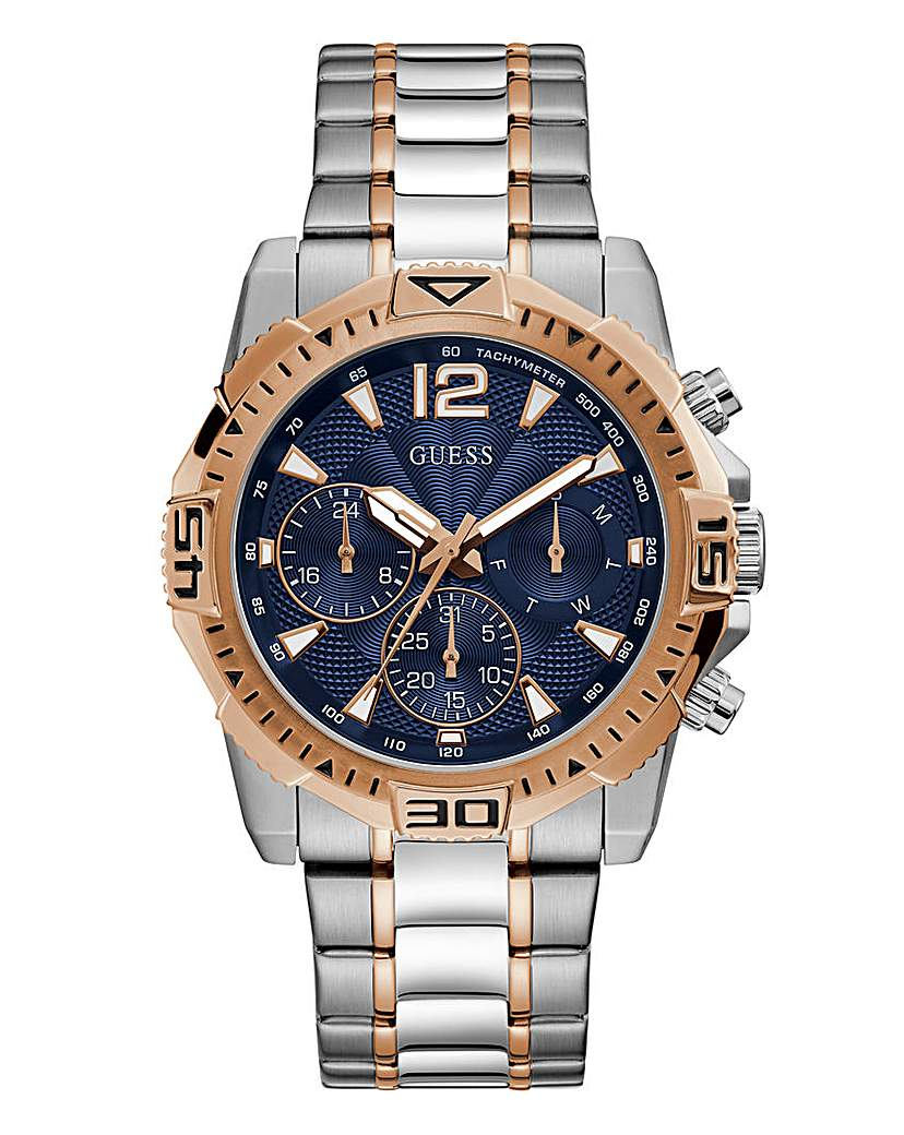 Guess Guess Two Tone Commander Watch