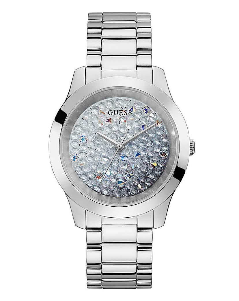 Guess Guess Diamond Dial Silver Watch