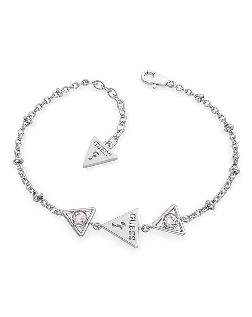 Guess Guess Queen of Hearts Silver Bracelet