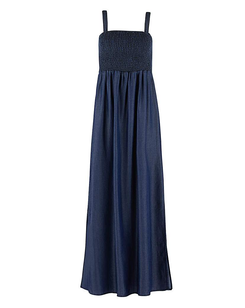 Capsule Indigo Tencel Bandeau Maxi Dress