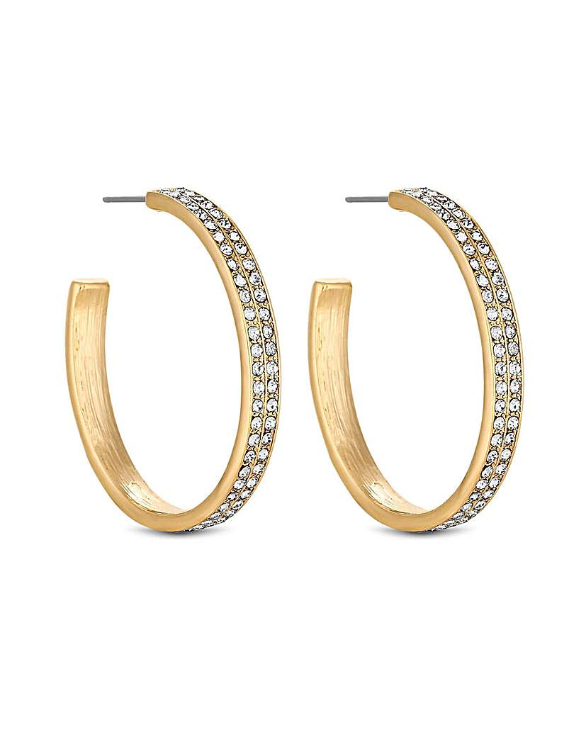 MOOD By Jon Richard Double Hoop Earring