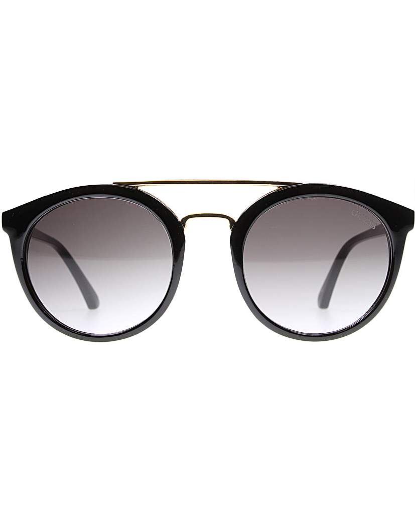 Guess Guess Double Bridge Round Sunglasses