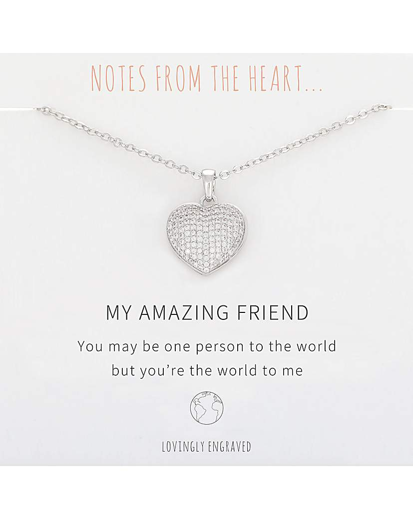 Notes From The Heart My Amazing Friend Heart Pendant