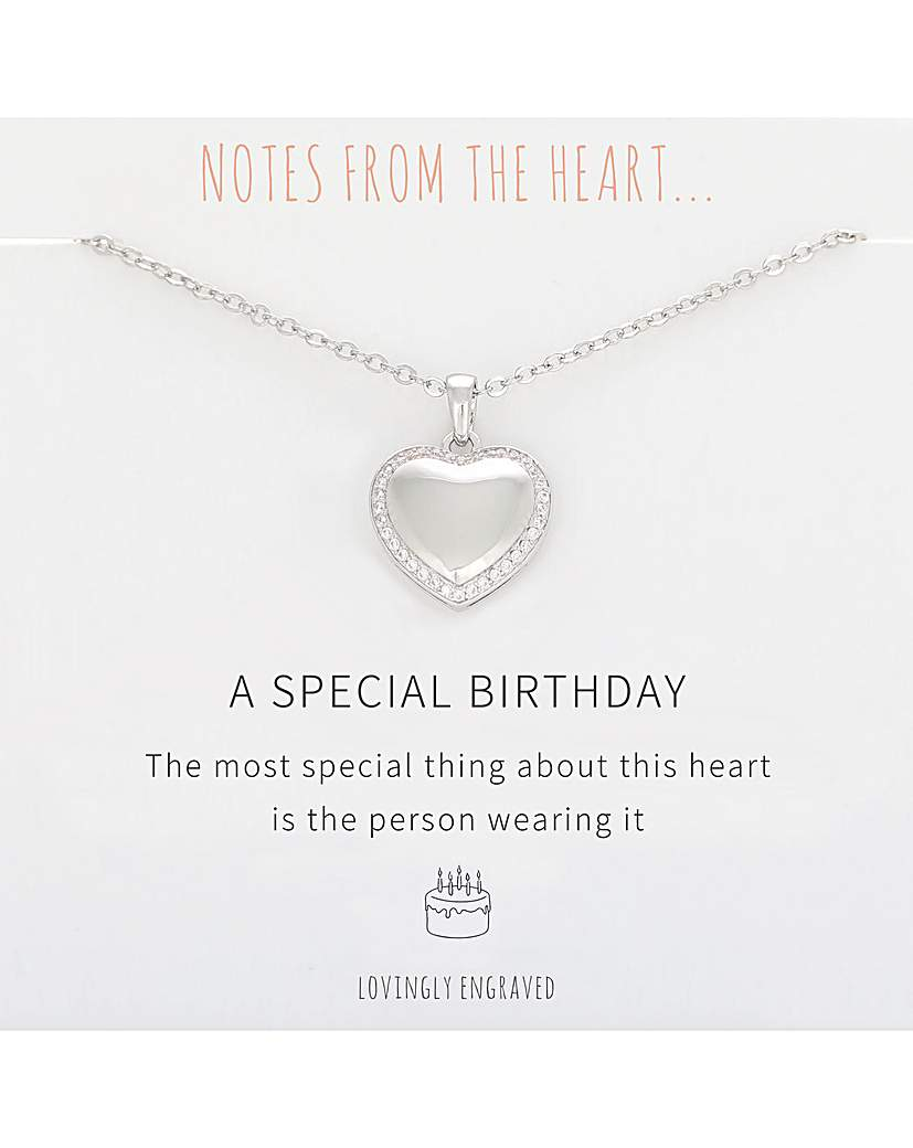 A Special Birthday Heart Pendant