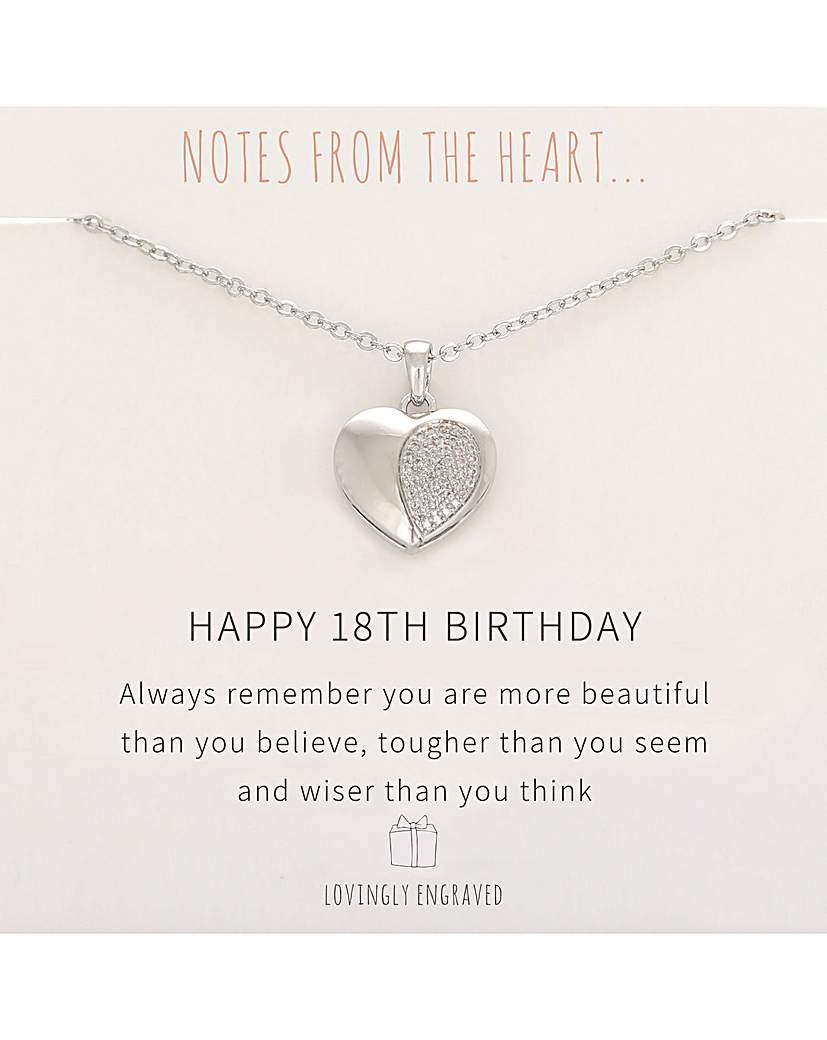 Notes From The Heart Happy 18th Birthday Pendant