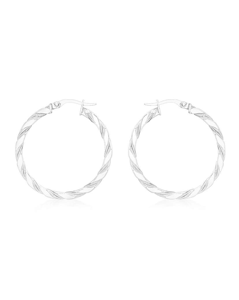 Simply Be 9Ct Gold Med Twist Earrings