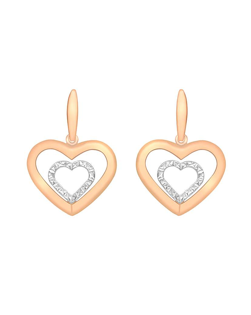 Simply Be 9Ct Gold Heart Earrings