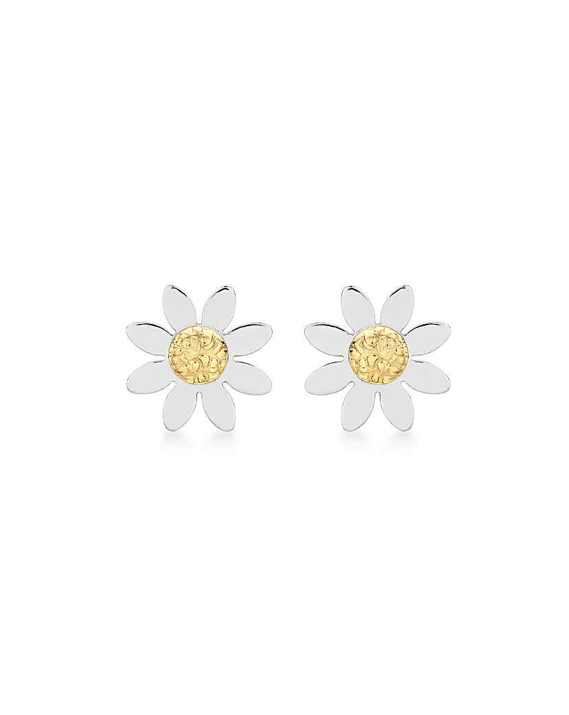 Simply Be 9Ct Gold Daisy Earrings