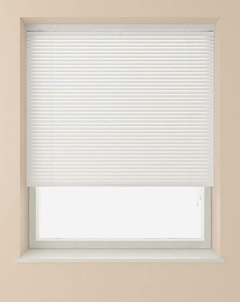 Image of 25mm PVC Slat White Venetian Blind