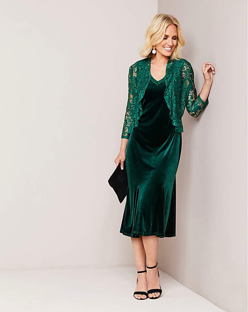 Vintage 1920s Dresses – Where to Buy Julipa Velour Dress and Jacket £59.00 AT vintagedancer.com