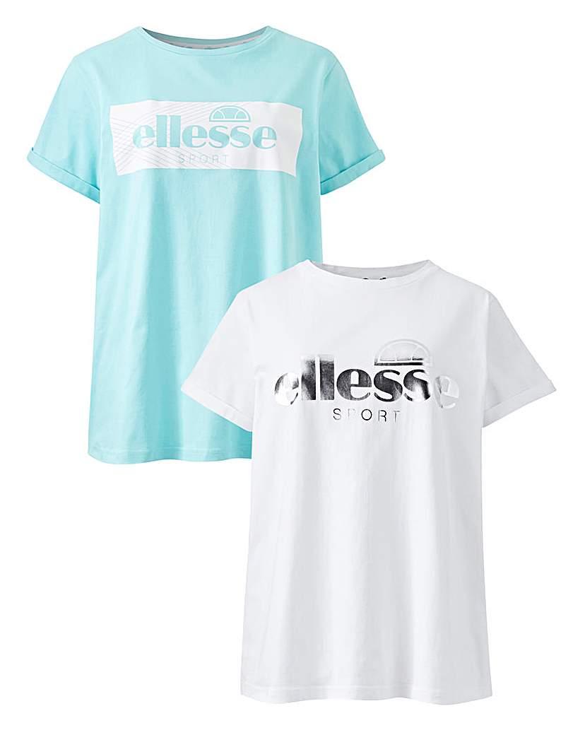 Ellesse 2 Pack Logo T-Shirt