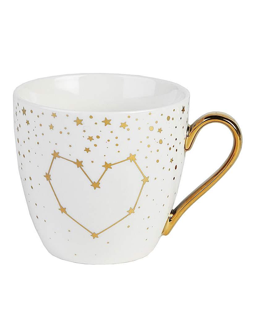Simply Be Set of 2 Gold Hearts Stars Kendal Mug