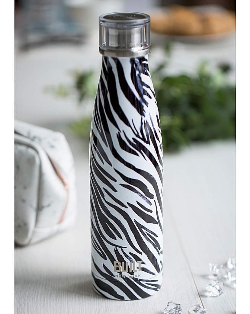 Built Built Zebra Print Water Bottle
