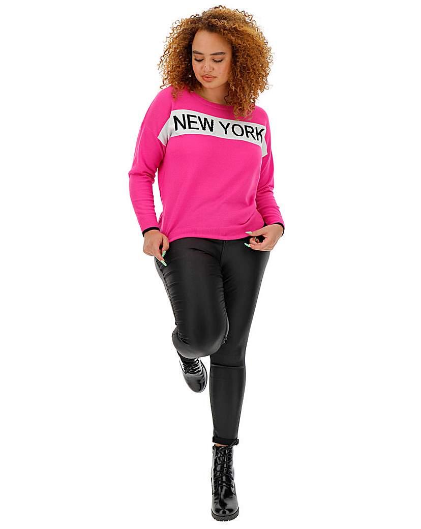 Simply Be New York Slogan Jumper