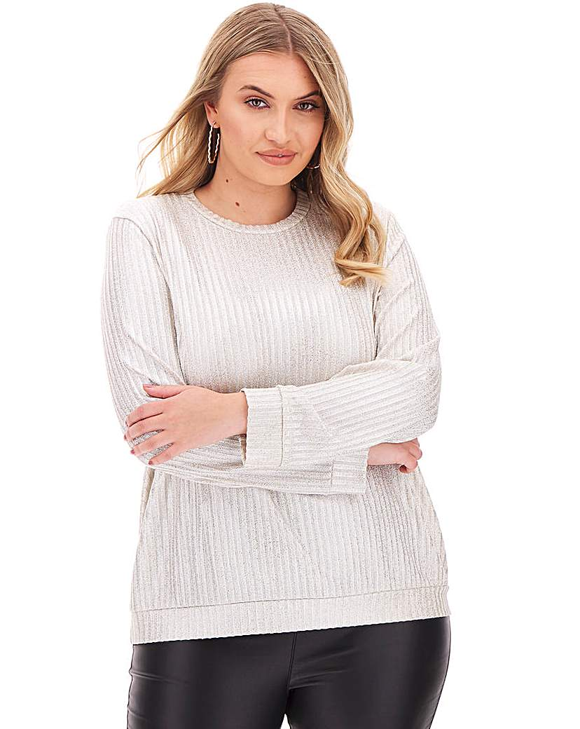 Simply Be Champagne Metallic Jumper