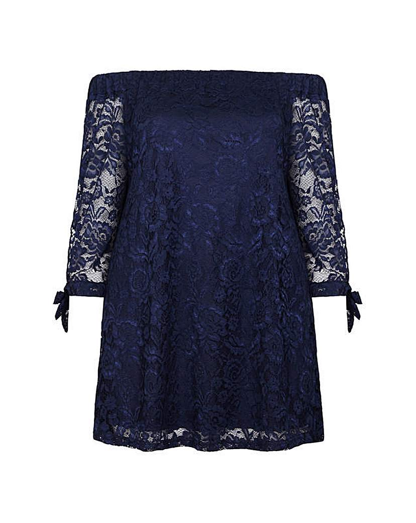 8e7d26e8b10641 Mela London Curve Lace Bardot Top - Female First Shopping