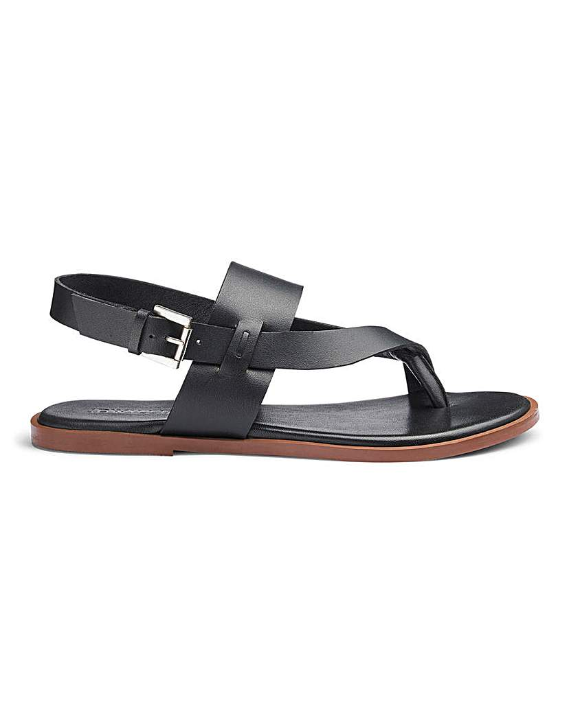 JD Williams Leather Toe Post Sandals E Fit