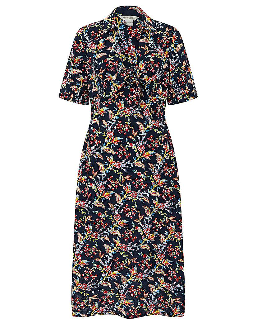 Monsoon Sarita Tie Front Midi Dress