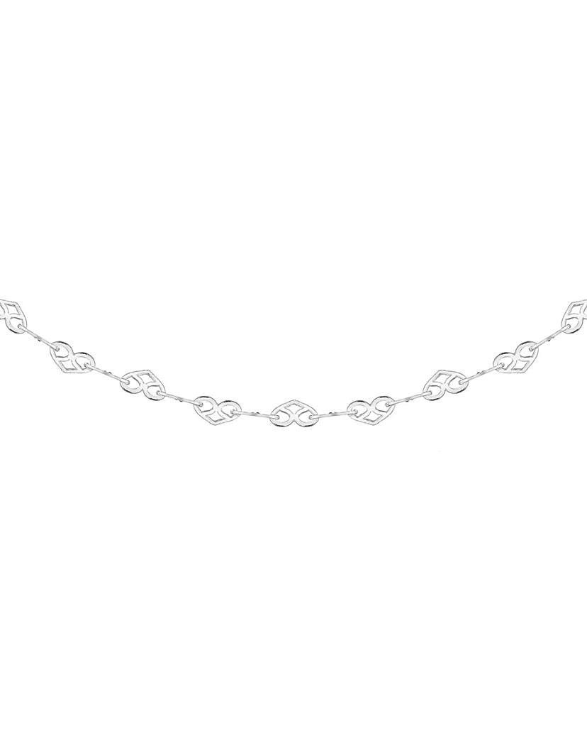 Simply Be Sterling Silver Heart Link Necklace
