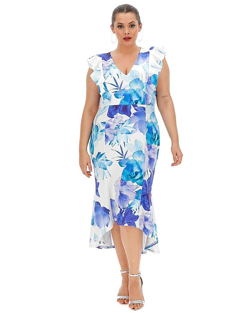 Quiz Curve Quiz Curve Floral Fishtale Dress