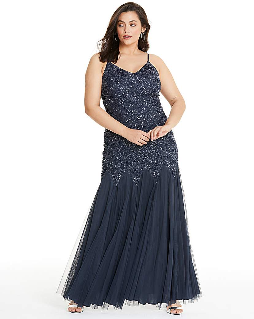 Maya Curve Cami Sequin Bodice Maxi Dress