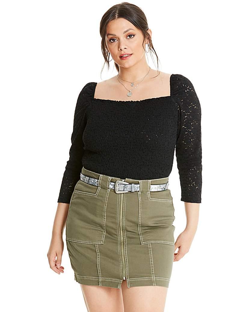 Glamorous Glamorous Curve Lace Bodysuit
