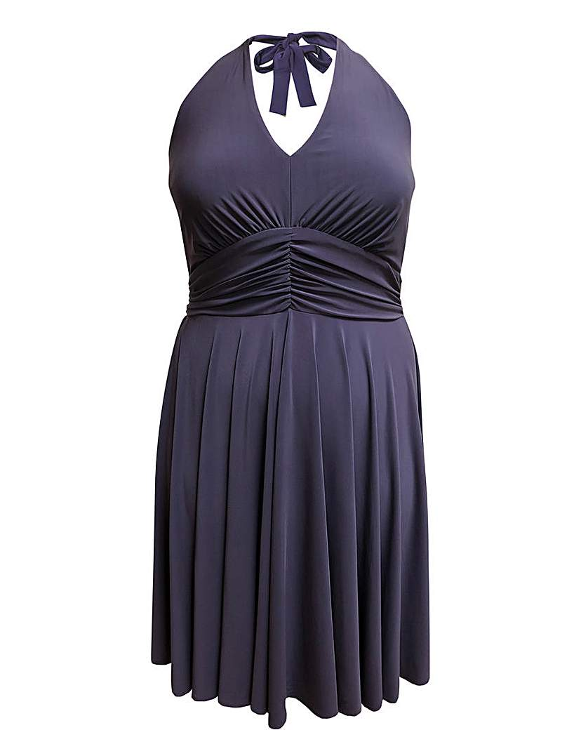 emily Marilyn Halter Neck Jersey Dress