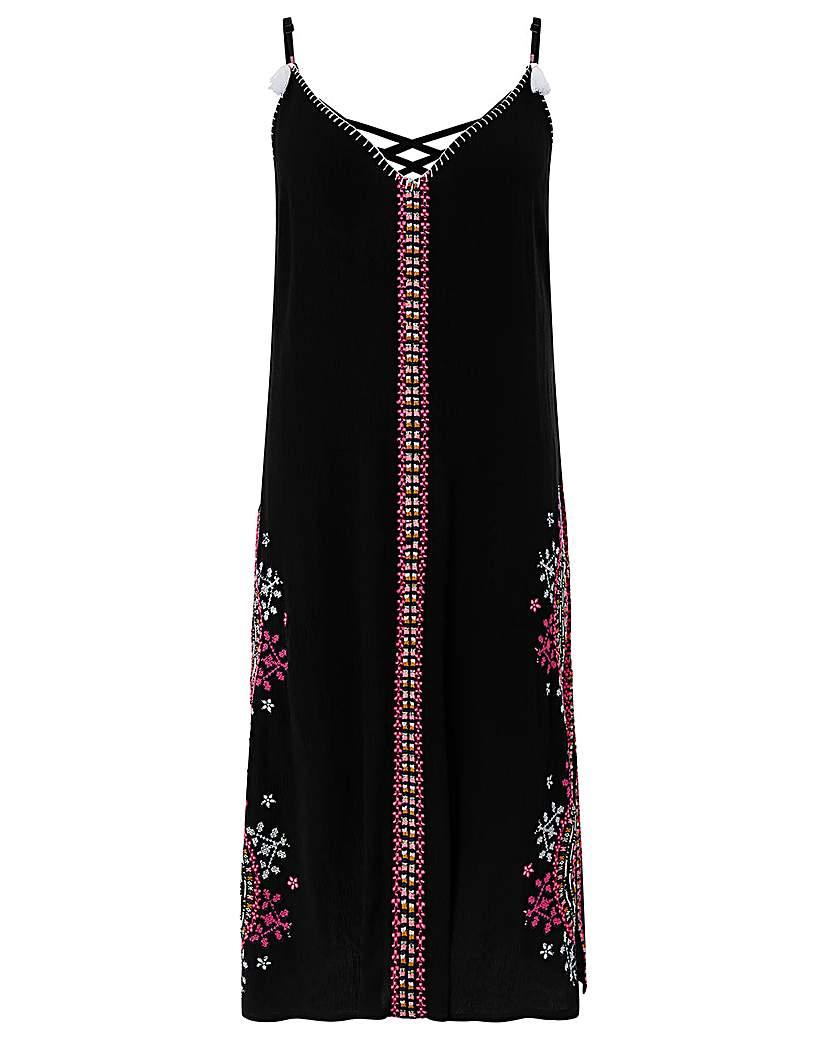 Monsoon Sabrina Emb Slip Dress