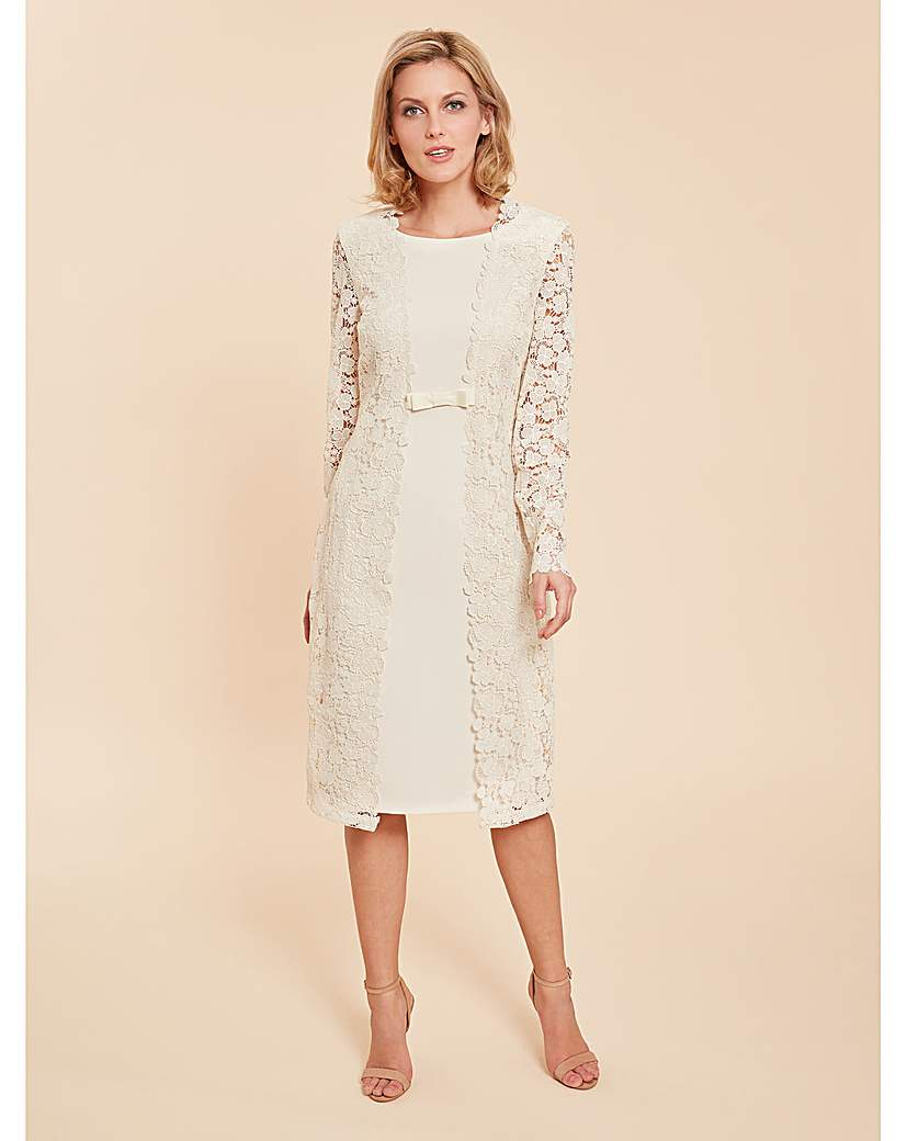 1960s Style Dresses, Clothing, Shoes UK Gina Bacconi Summer Lace And Crepe Dress £320.00 AT vintagedancer.com