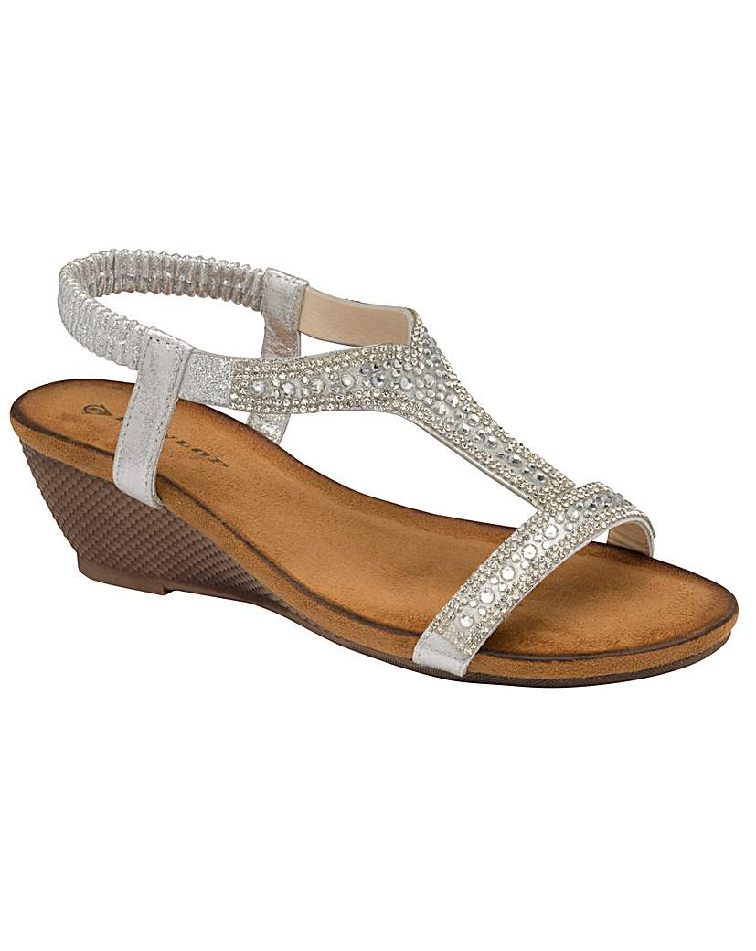 Dunlop Dunlop Helena standard fit wedge sandals