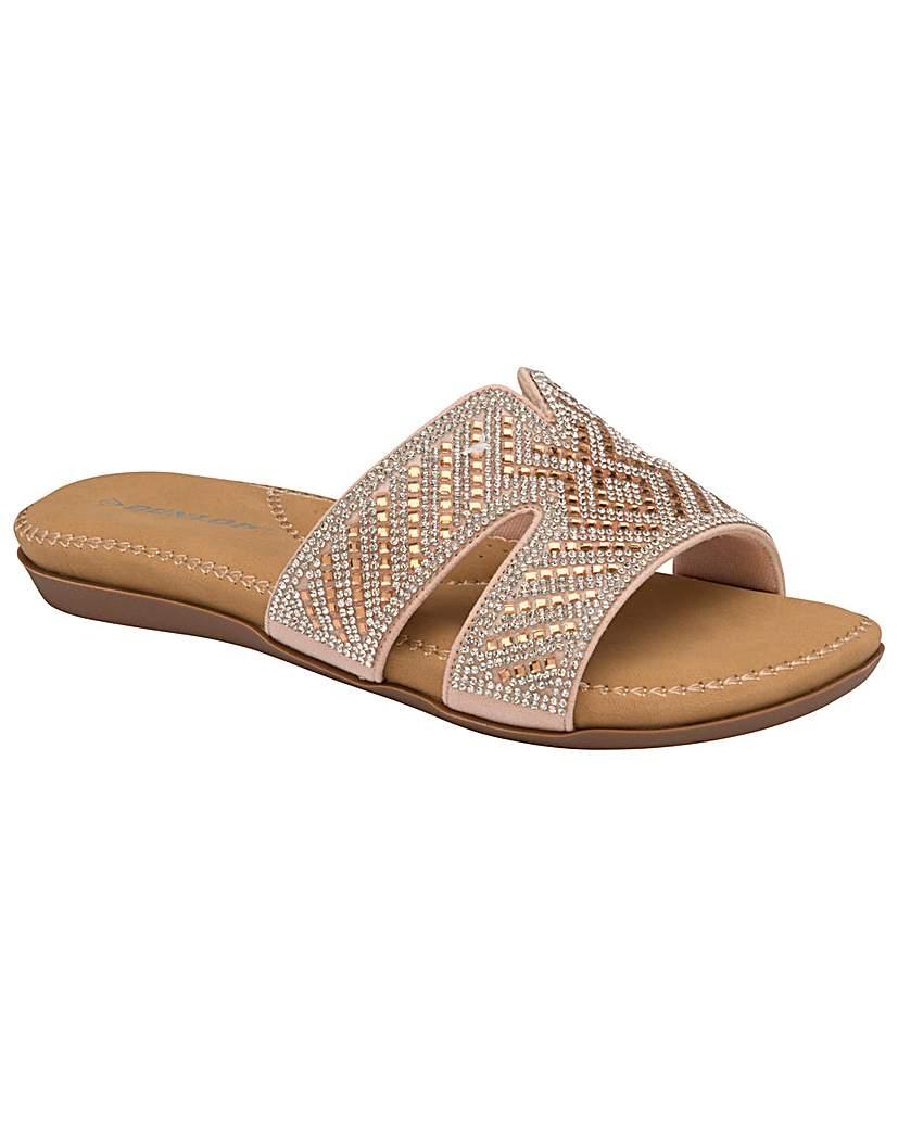 Dunlop Dunlop Sinead standard fit mule sandals