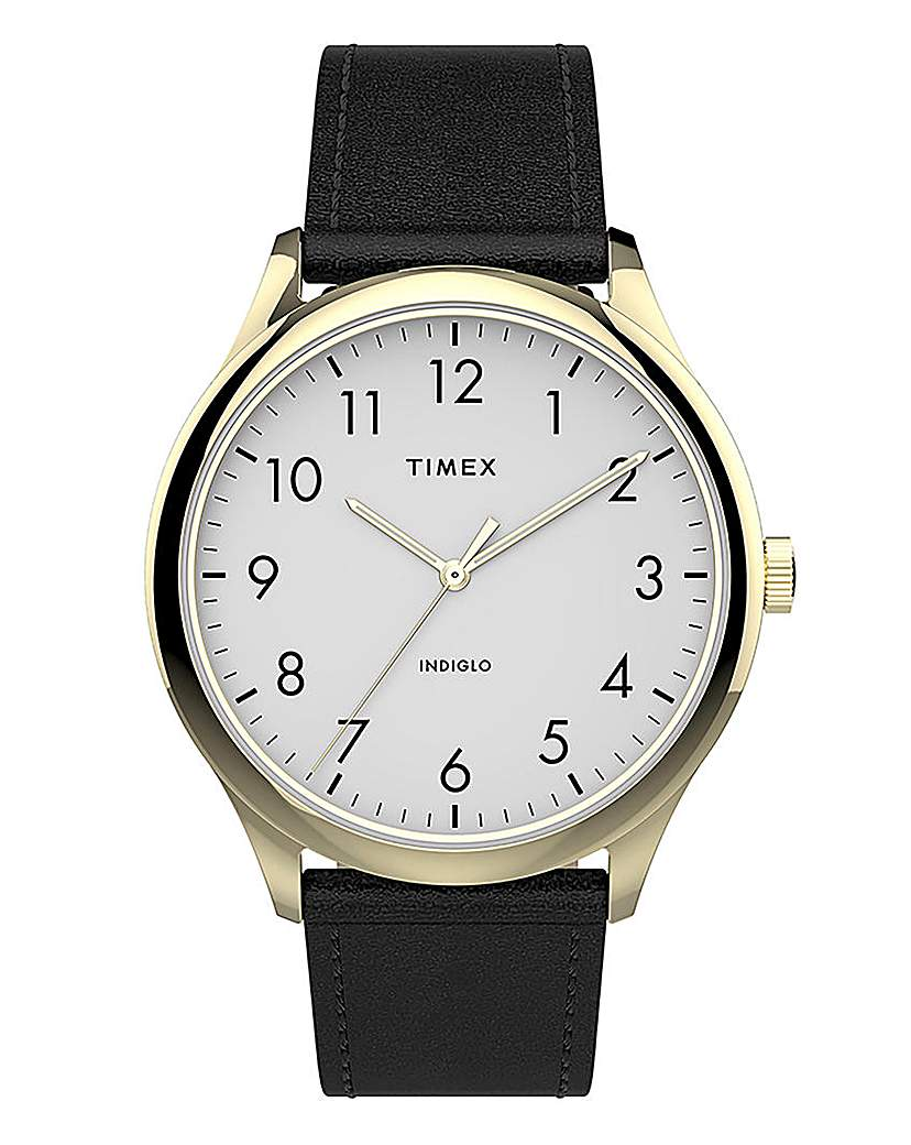 Timex Timex Classic Gold & Black Leather Watch
