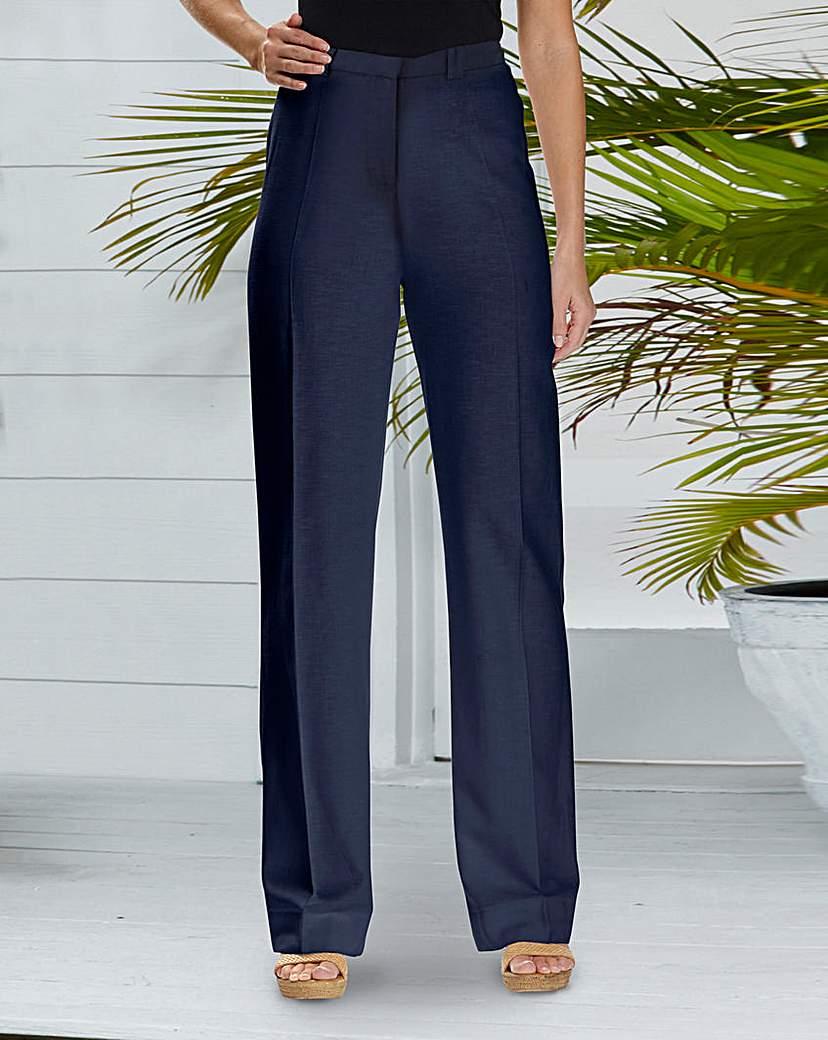 Retro Pants & Jeans JOANNA HOPE Linen-Blend Trousers 29in £28.00 AT vintagedancer.com