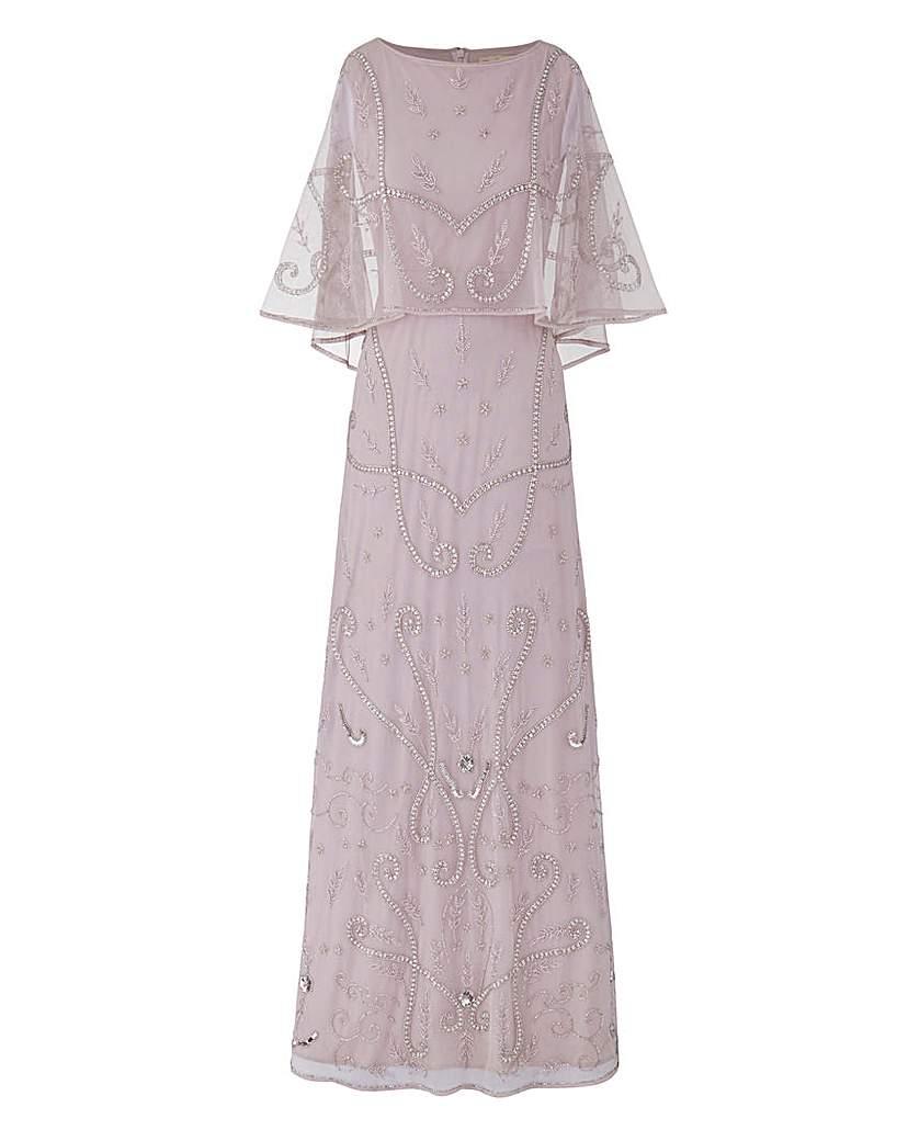 1930s Plus Size Dresses JOANNA HOPE Embellished Maxi Dress £47.50 AT vintagedancer.com